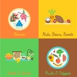 Tipos diferentes de superfoods Fotos de Stock