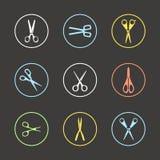 Tipos diferentes de tesouras Imagens de Stock