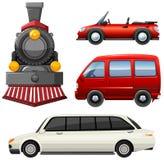 Tipos diferentes de veículos ilustração stock