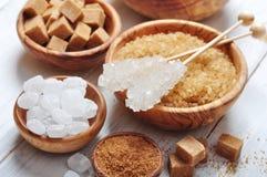 Tipos diferentes do açúcar Imagem de Stock Royalty Free