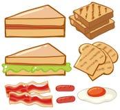Tipos diferentes do café da manhã ilustração royalty free