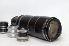 Tipos diferentes do grupo despretensioso de lentes do vintage Imagens de Stock Royalty Free