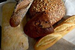 Tipos diferentes do pão Imagem de Stock Royalty Free
