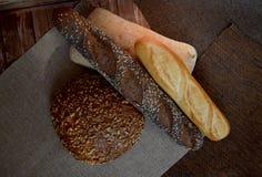 Tipos diferentes do pão Fotos de Stock Royalty Free