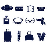 Tipos diferentes dos acessórios das mulheres Imagem de Stock Royalty Free