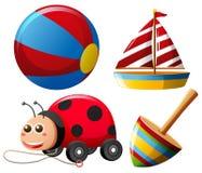 Tipos diferentes dos brinquedos para crianças ilustração stock