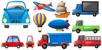 Tipos diferentes dos transportes Foto de Stock