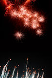Tipos dos fogos-de-artifício Imagens de Stock