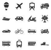 Tipos iconos del transporte fijados Imagen de archivo libre de regalías