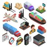 Tipos iconos isométricos de la entrega fijados libre illustration