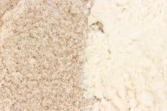 Tipos lisos e wholegrain da farinha - Imagem de Stock Royalty Free