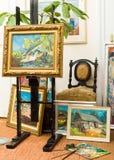 Tipos rurales de las pinturas de la vida Imagenes de archivo