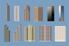 Tipos sistema del edificio del icono del objeto Imágenes de archivo libres de regalías