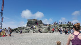 Tipp-Spitzenhausspitze des Bergs Washington Stockbild