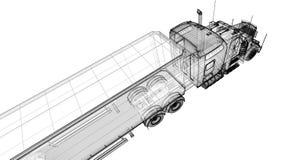 Tippande lastbil Fotografering för Bildbyråer