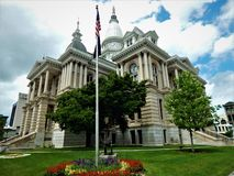 1884 Tippecanoe County Courthouse Lafayette Indiana. Finished in 1884 in a combination of styles ranging from Second empire to Beaux Arts, the historic royalty free stock image