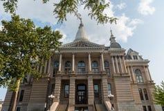 Tippecanoe okręgu administracyjnego gmach sądu, Lafayette, Indiana, w lecie zdjęcie stock
