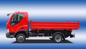 Tippende vrachtwagen stock foto's
