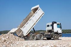 Tipper ciężarówka Obrazy Royalty Free