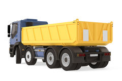 Tipper dump truck back isolated. Royalty Free Stock Photo