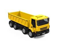 Tipper Dump Truck gialla Immagine Stock Libera da Diritti