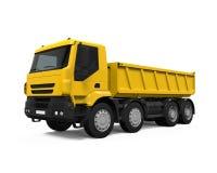 Tipper Dump Truck gialla Immagini Stock Libere da Diritti