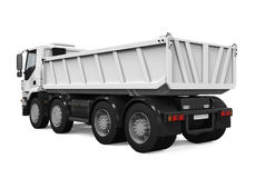 Tipper Dump Truck. Isolated on white background. 3D render Stock Photo