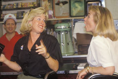 Tipper Gore and Hillary Clinton Royalty Free Stock Photo