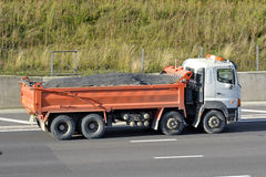 Tipper Lorry on motorway Royalty Free Stock Image