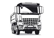 Tipper transport illustration Royalty Free Stock Image