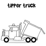 Tipper truck with hand draw Royalty Free Stock Image