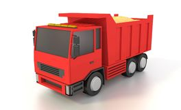Tipper truck with sand. 3D rendering. Tipper truck with sand. 3D rendering Vector Illustration