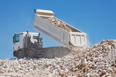 Tipper truck Royalty Free Stock Photos