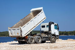 Tipper truck Stock Photo