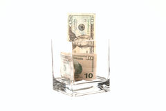 Tipping getting expensive. Royalty Free Stock Photo