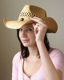 Tipping Her Hat Stock Image