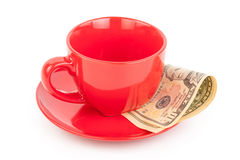 Tipping under the cup Royalty Free Stock Photography