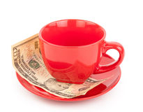 Tipping under the cup Stock Photography