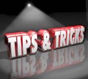 Tipps betrügt den Scheinwerfer der Wort-3d, der wie zum Informations-Rat hilfreich ist Lizenzfreie Stockbilder
