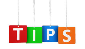 Tipps fassen auf Tags ab Stockfotos