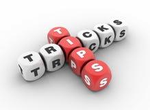 Tipps und Trick-Kreuzworträtsel Lizenzfreies Stockfoto
