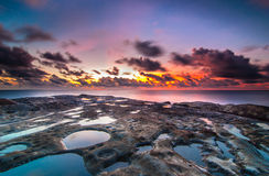 Tips of borneo during sunset. This very beautiful sunset taken at simpang mengayau sabah, malaysia. Also call this tips of borneo because two ocean meets each Royalty Free Stock Photography