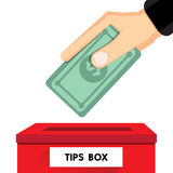 Tips box Stock Images