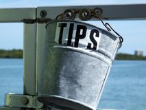 Tips Bucket stock images