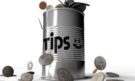 Tips can. On white background Stock Images