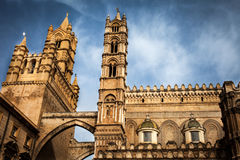 The tips of the Cathedral of Palermo Royalty Free Stock Image
