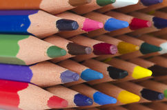 Tips of color pencils Royalty Free Stock Image