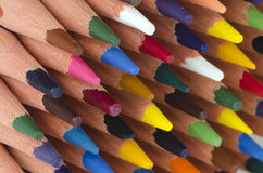Tips of color pencils Royalty Free Stock Images