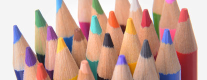 Tips of Colored Pencils Royalty Free Stock Images