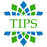 Tips Green Blue Circular Background Royalty Free Stock Photos